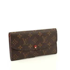 Auth Louis Vuitton Emilie Long Wallet #N0989V70